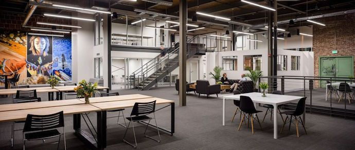 A Tech Startup S New Offices And Co Working Incubator Tech Startups Incubator Home