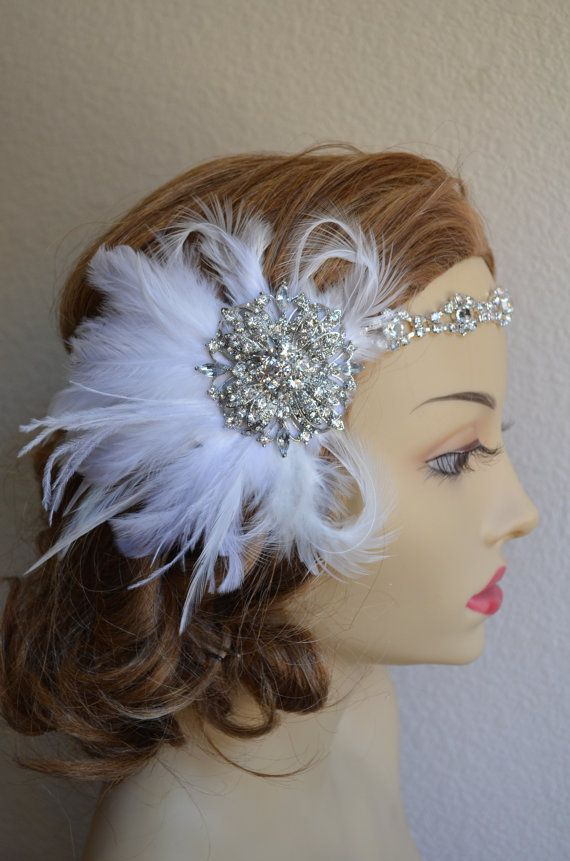 Top SellerRhinestone Flapper headpiece1920s by yanethandco on Etsy, $89.00
