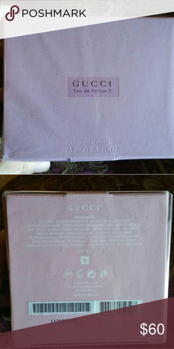 Gucci perfume 2.5 Oz eau de parfum II Brand new still in wrap Gucci Other