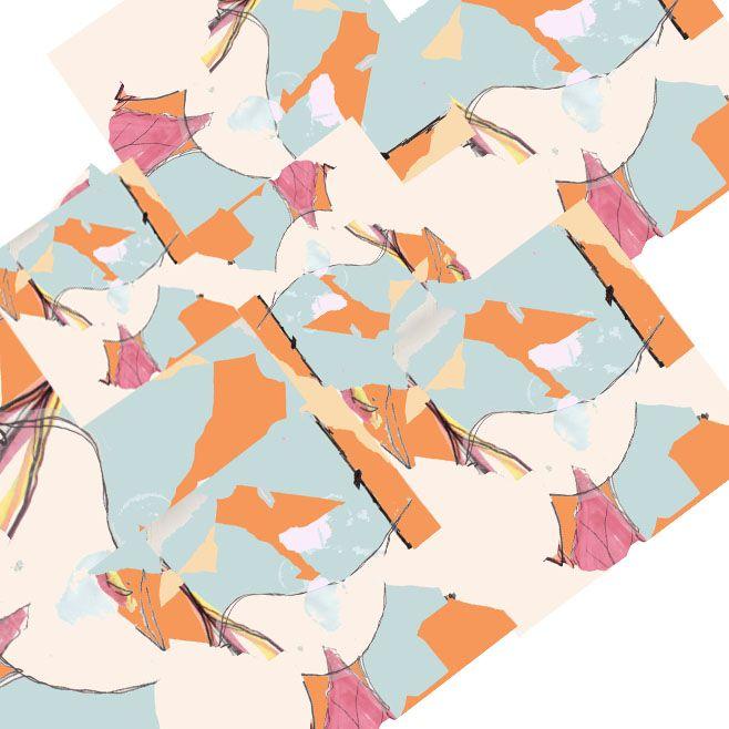 #print #bird #collage #pastel #pastels #design #designer  #handdrawn #drawing #repeat #pattern #repeatpattern #surfacepattern