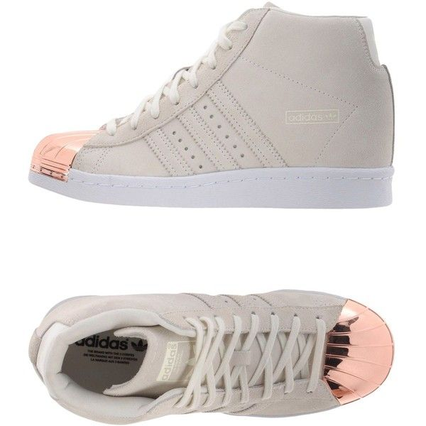 Adidas Originals High-tops & Trainers (265 BRL) ❤ liked on Polyvore featuring shoes, sneakers, beige, wedge shoes, hidden wedge heel sneakers, animal trainer, leather sneakers and leather wedge sneakers