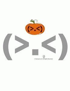 Big Mistake Funny Pumpkin Face