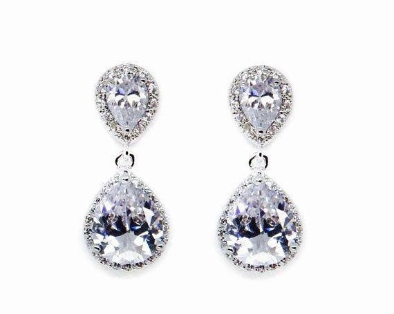 Ispirazione vintage orecchini da sposa Bridal orecchini a
