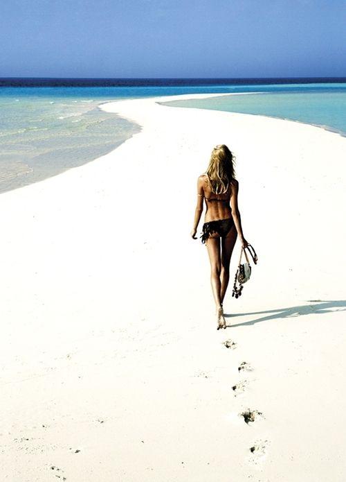 take a walk at the beach