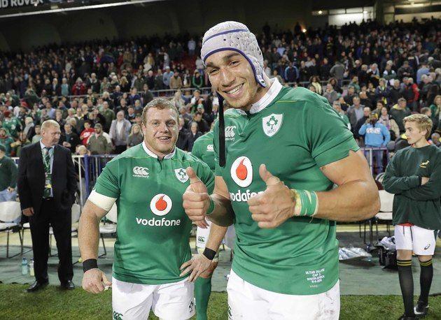 Sean Cronin and Ultan Dillane celebrate after the match