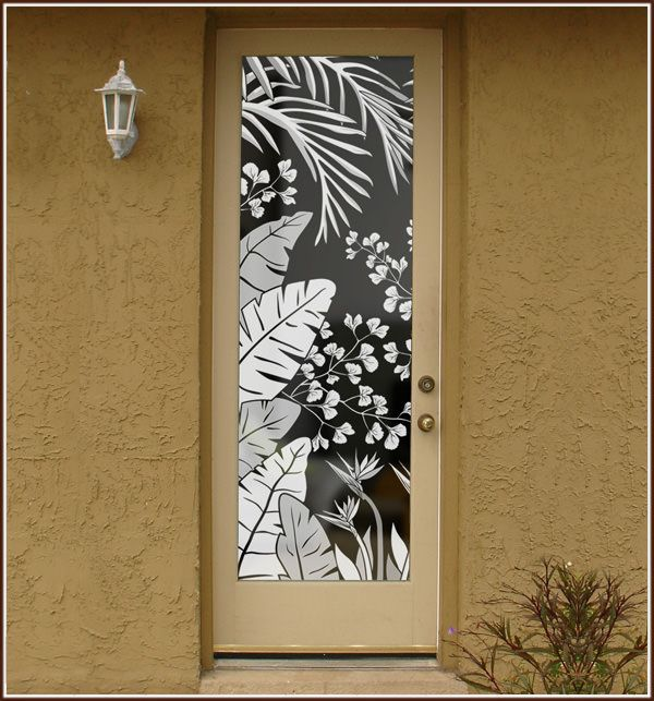 Tropical Oasis on Door