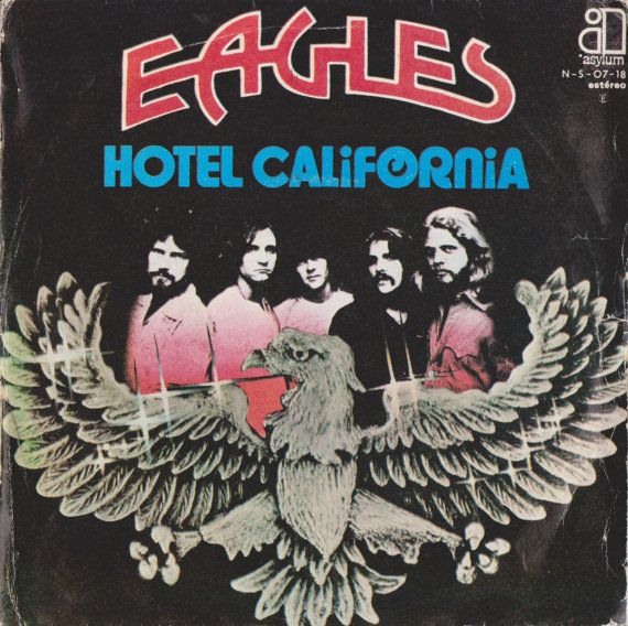 Check out this item in my Etsy shop https://www.etsy.com/uk/listing/483162523/eagles-hotel-california-1976-portugal