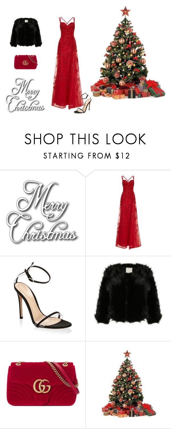 """Dress Me Up Christmas"" by natalyholly on Polyvore featuring Elie Saab, Gianvito Rossi and Gucci"