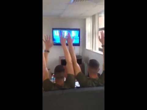 Can I marry the guy in the middle? If he's single… or any one of them… Marines singing Frozen. Best part is around 2:20. I love this