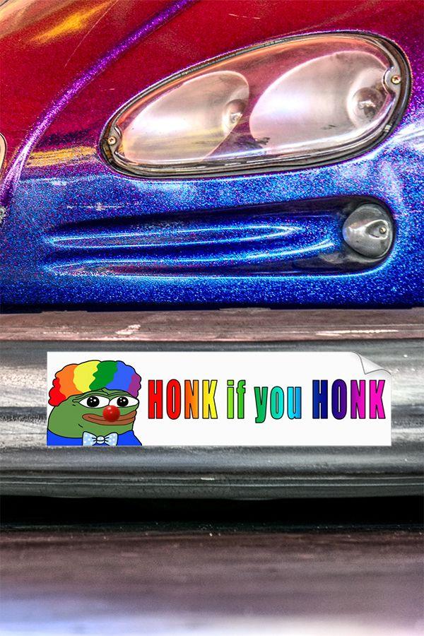 Fuck clowns bumper sticker