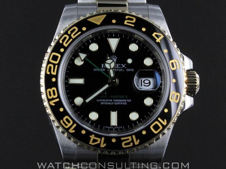 Vente et location de montres de luxe d'occasion - ROLEX GMT MASTER 2 CERAMIQUE OR/ACIER