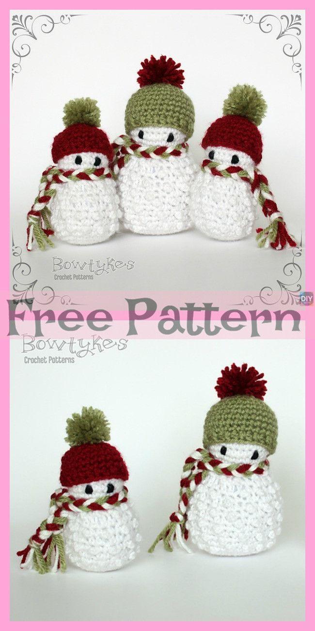 8 Crochet Snowman Amigurumi Free Patterns | Ideas para el hogar ...