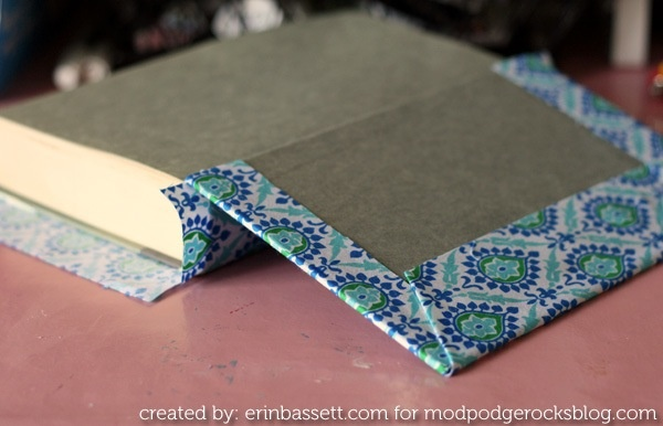 Mod Podge fabric covered books- a new kind of dust jacket!