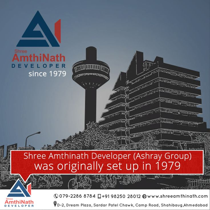 Shree Amthinath Developer (Ashray Group) was originally set up in 1979. We are one of the oldest and most trusted real estate companies in India. Since inception, Shree Amthinath Developer has been a synonym of trust, transparency and ethical practices.  W: http://shreeamthinath.com/  #RealcompaniesinAhmedabad  #BestLuxuriousApartmentsinAhmedabad  #BestPropertyBuildersinAhmedabad  #BestBuilderinAhmedabad  #BestResidencialProjectinAhmedabad   W:http://shreeamthinath.com/ E:+91 98250 28012