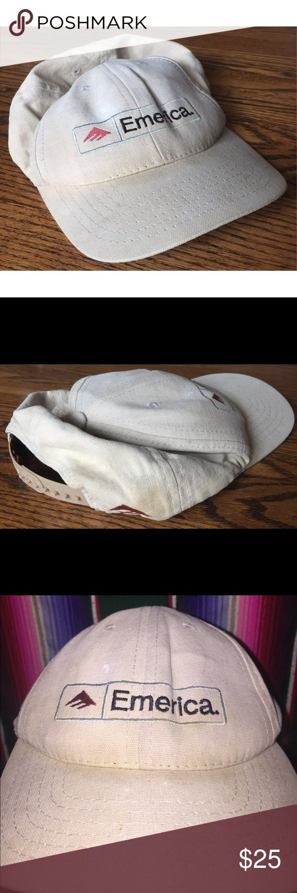 Emerita snapback vintage skateboarding Unisex rare Cool hat slightly worn general used condition fits smaller emerica Accessories Hats