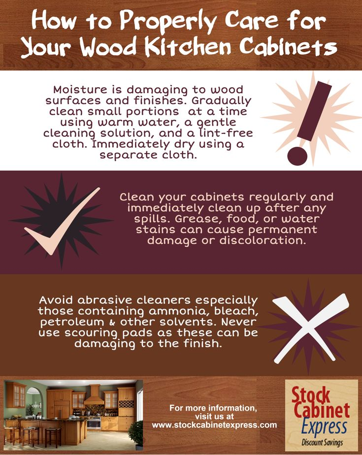 how to clean finished wood cabinets that are peeling