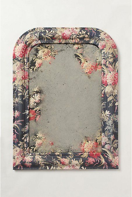 Farbric Covered Anthropologie Inspired Mirror Tutorial