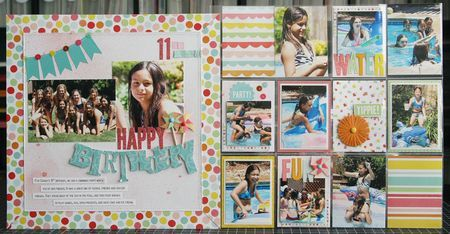 Birthday scrapbook page.