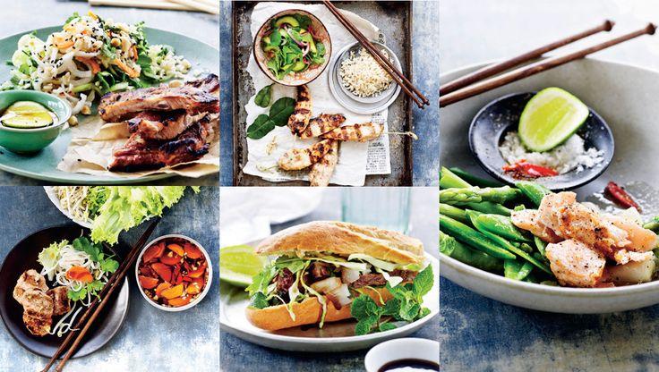 Denne uges hverdagsopskrifter byder på lækre vietnamesiske grillretter. Her får du bl.a. opskrifterme på grillet laks med limesalt