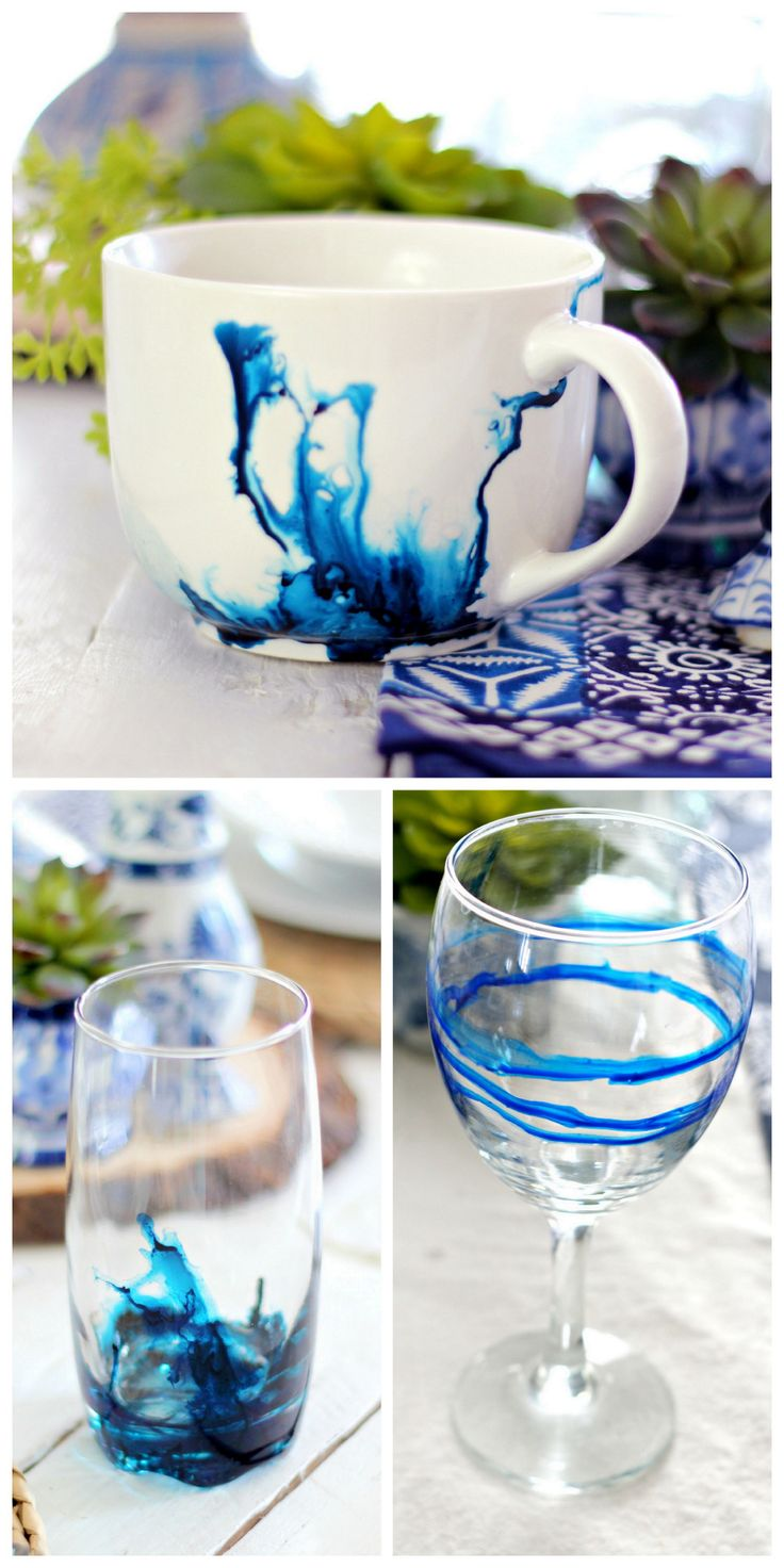 DIY Alcohol Ink Mug and Glasses Tutorial at Babble.This is such an easy DIY and you can experiment on Dollar Store mugs and glassware. And this isn't the old Babble with painfully slow moving...