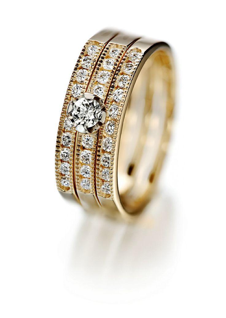 Oy Tillander Ab Red Label, diamond rings www.tillander.fi/ #tillander #diamond #ring #gold #wedding #engagement