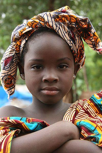 Bozo girl in Bamako, Mali, West Africa