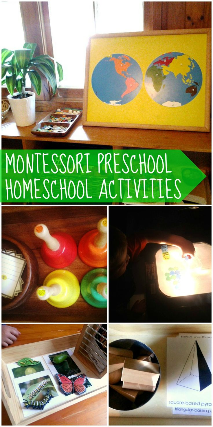 montessori preschool homeschool activities