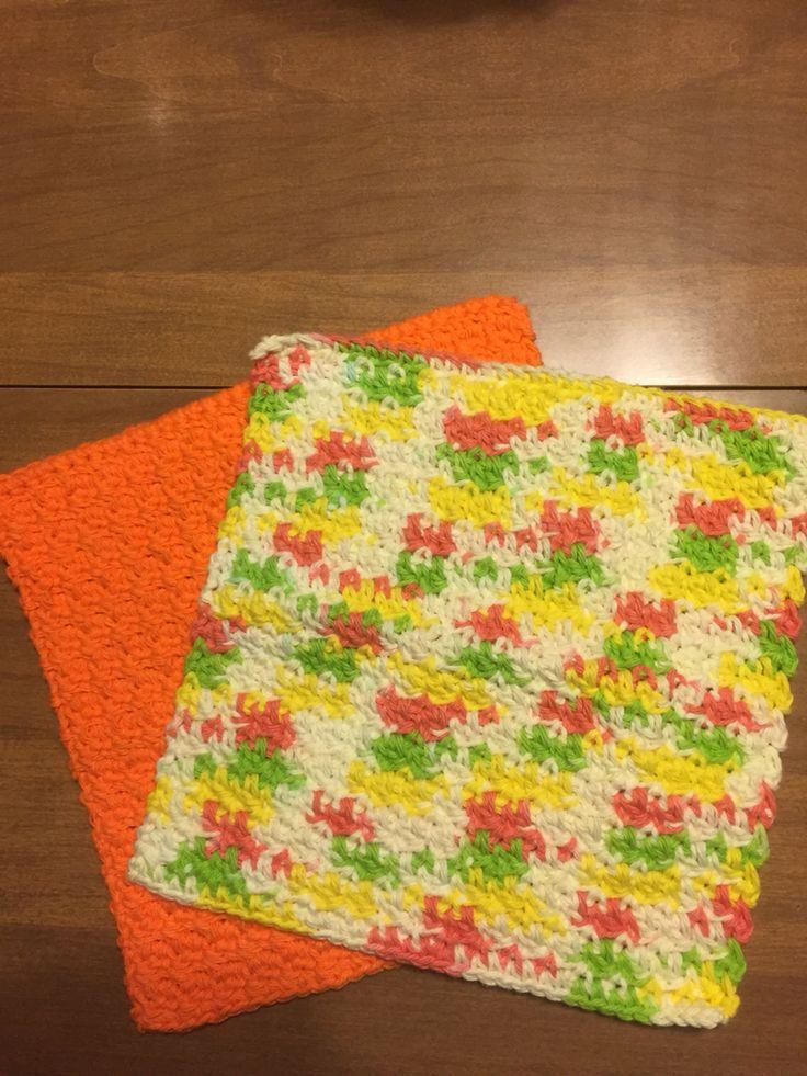 Crocheted dishcloths My Crochet Projects Pinterest ...