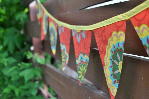 Chicken coop is gonna need some flags ♥  Custom Made Outdoor Bunting Flag Banner by SewWhimsicalByKatie, $25.50 -
