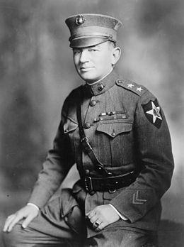 "Lt Gen John A. Lejeune c1920.jpg. Navy Distinguished Service Medal, Army Distinguished Service Medal, French Legion of Honor, French Croix de guerre. Nicknames: ""Greatest of All Leathernecks"", The Marine's Marine."