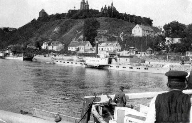Wisła, statki, Wzgórze Tumskie 1918-1928 Kliknij aby obejrzeć w pełnym rozmiarze