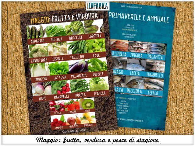 Maggio: frutta, verdura, pesce e conserve di stagione