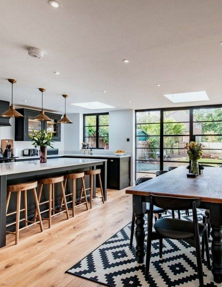 Modern And Cool Dining Room Design Ideas In 2020 Open Plan Kitchen Living Room Open Plan Kitchen Diner Open Plan Kitchen Dining Living
