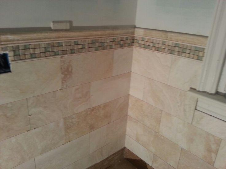 Bathroom Tiles Mosaic Border 24 best travertine tile ideas for a bathroom images on pinterest
