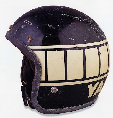 Yamaha helmet----Had one that looked very much like this in the 70's !
