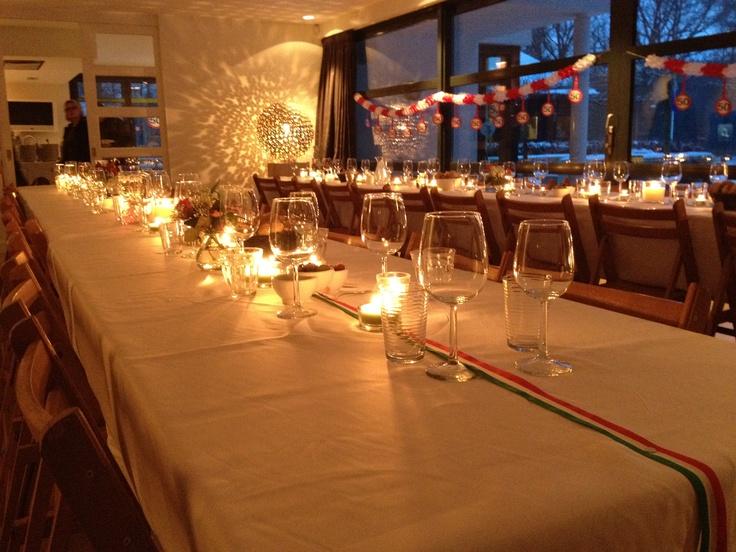Italiaans feest in Nederland aan lange tafels!
