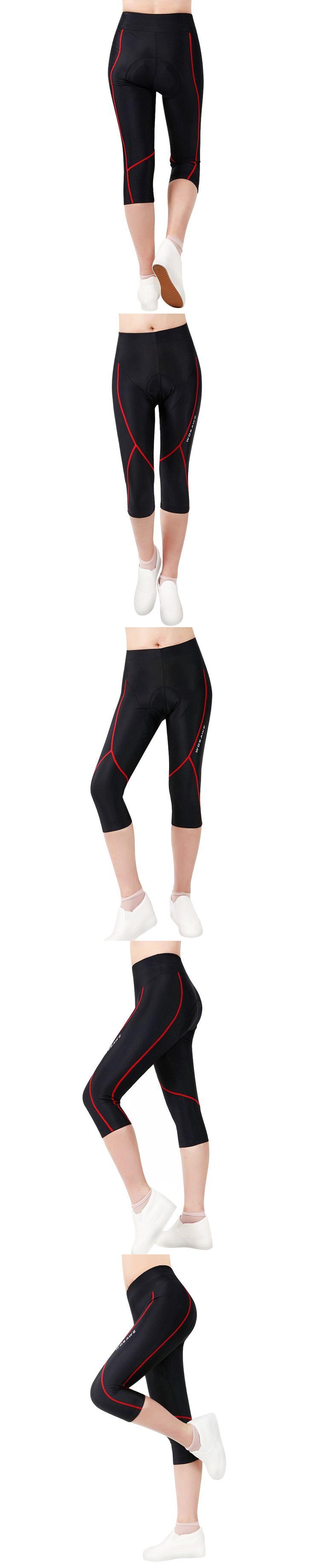 WOSAWE New 3/4 Leg Cycling Shorts Gel 3D pad Female Bike Bicycle Shorts Racing Tights Shorts