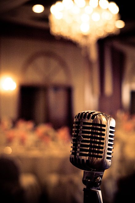 I actually sang into a microphone like this years ago at a wedding, in a Long Beach ballroom.