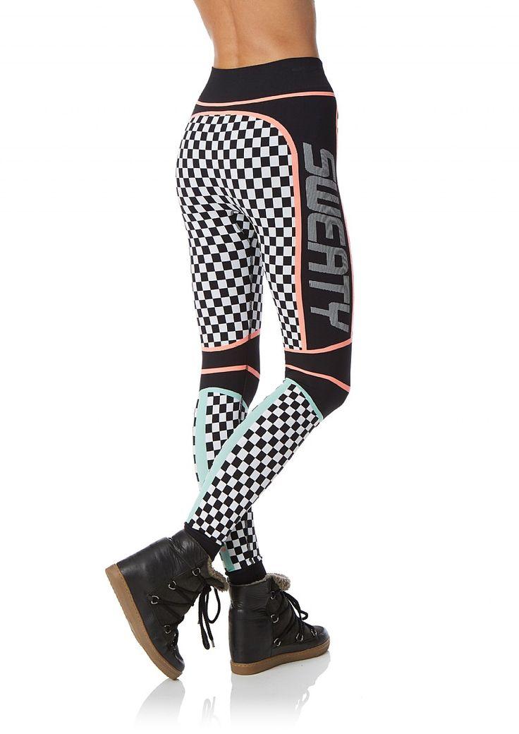 Ski Trail Seamless leggings - BlackSkiTrailJacquard | leggings | Sweaty Betty