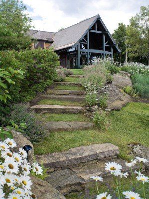 landscaping steps on a hill - Google Search