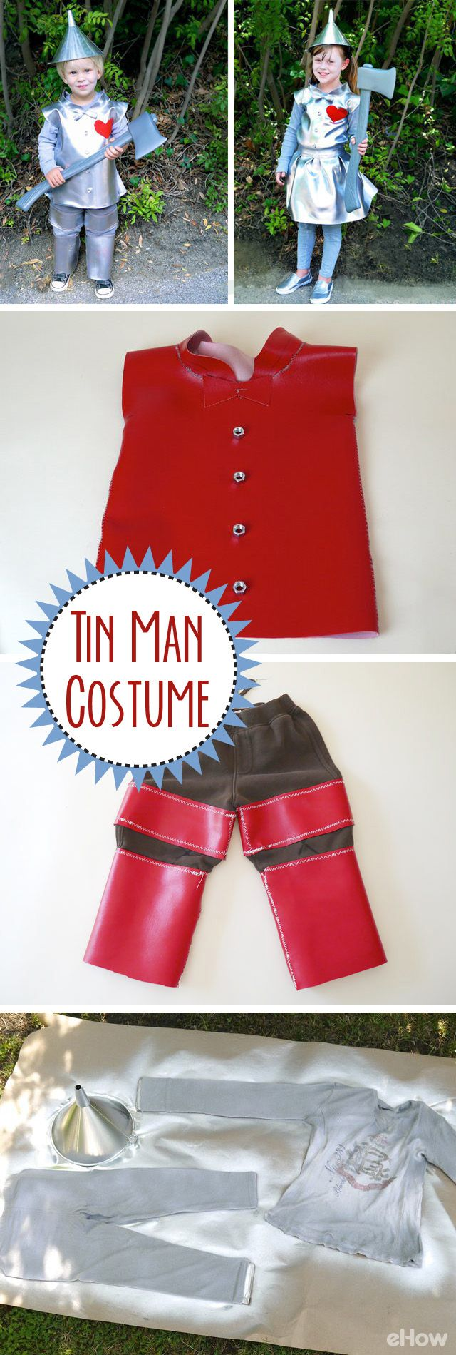 A little Tin Man costume for a girl or boy! Just love how simple this costume is to make. http://www.ehow.com/how_2064531_make-tin-man-costume.html?utm_source=pinterest.com&utm_medium=referral&utm_content=freestyle&utm_campaign=fanpage