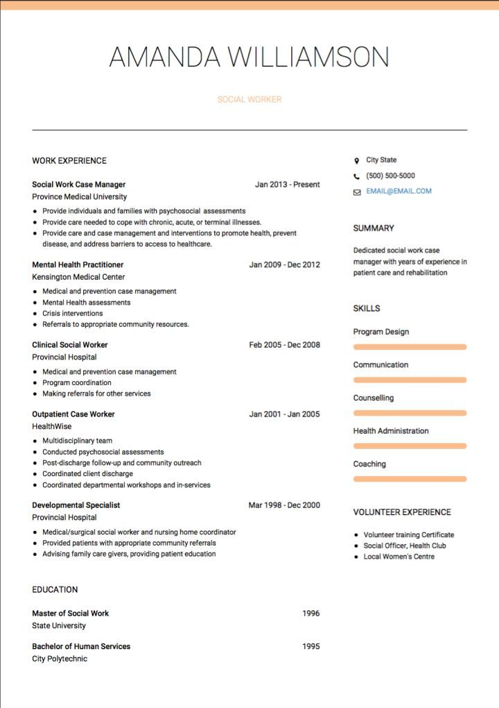 Cv Template Social Work Social Work Cv Template Resume Examples