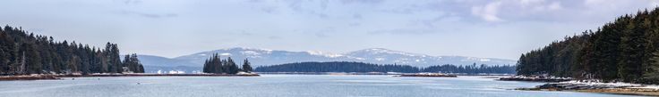 Mount Desert Island and Acadia National Park taken from Back Cove Swan's Island Maine [OC][17114x2537]