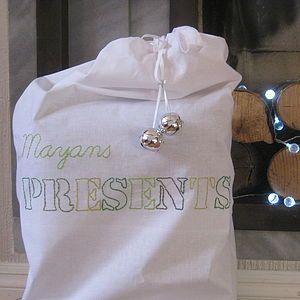 Personalised Christmas Present Sack