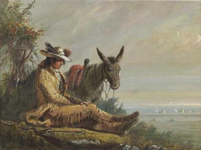 Mocassin et silence - ©Alfred Jacob Miller - 1810-1874