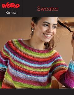 "Kirara Sweater [Y-971] | Knitting Fever Yarns & Euro Yarns. Free Noro pattern.  Only goes up to 41"" but should be easy to enlarge."