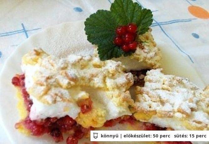 Ribizlis - Rebarbarás süti