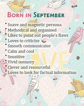 What Your Birth Month September Says About You