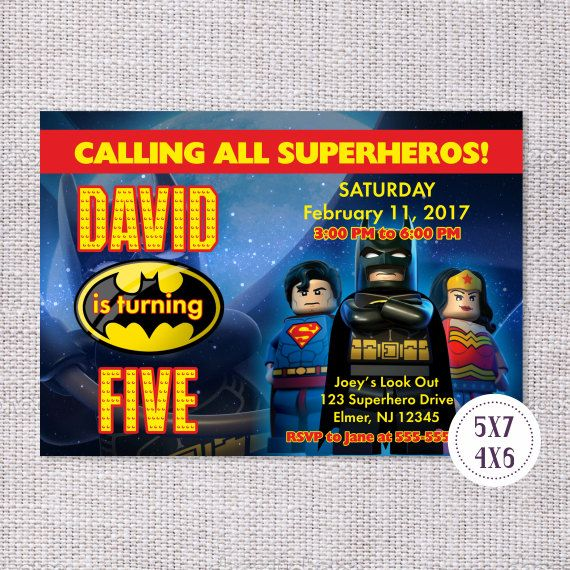 Batman Superman Invitation Lego Invitation Lego Birthday Party Supplies Batman Superman Lego Birthday Invitation Lego Birthday Party Ideas Batman Superman Birthday Party Batman Superman Printables Lego Printables Lego Birthday Invite Batman Superman Invite #batman #superman #lego #birthday #superheros #invite #invitation # #partyideas #birthdayparty #tomasinadesign