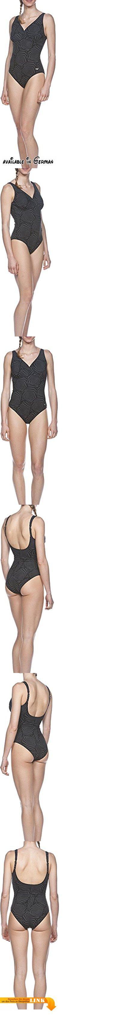 Arena Damen Bodylift Helga D-Cup Badeanzug, Black, 42. arena Bodylift mit Body-Shaping Effekt. gemäßigter Sonnenrücken, breite verstellbare Träger, eingearbeiteter Bra. V-Ausschnitt, tiefer Beinausschnitt für optimale Poabdeckung, C-Cup. 68% Polyamid 32% Elastan. Sensitive Fit von arena ist das figurformende Material aus der Bodylift-Serie. Es ist angenehm im Griff und gibt ein gutes Tragegefühl. #Sports #SPORTING_GOODS